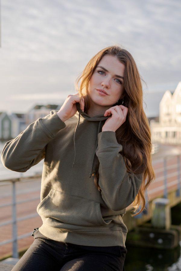 Comfy hoodie donkergroen