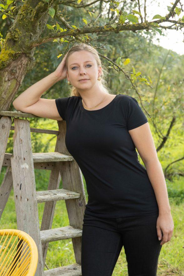 Essential | Stretch T-shirt Zwart