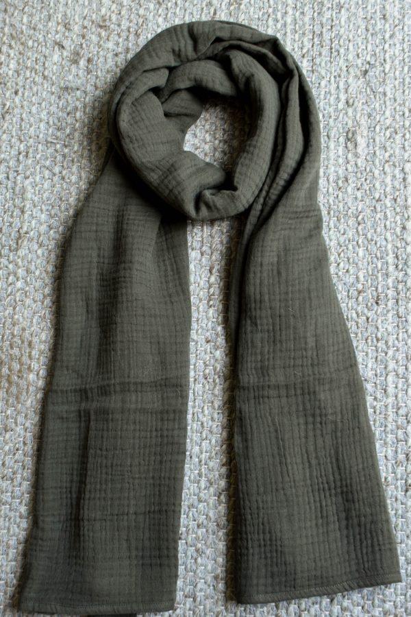 Sjaal donkergroen biologisch katoen